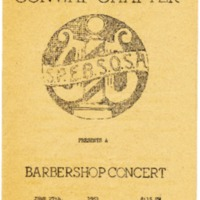 Barbershop Concert Program