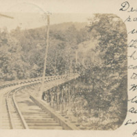 Postcard of Conway Electric Street Railway Bridge
