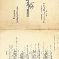 Conway High School Graduation Program, Class of 1910&lt;br /&gt;<br /> &lt;br /&gt;<br />