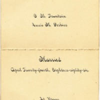Announcement  of Wedding of Annie Perkins and George Fountain