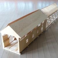 Burkeville Covered Bridge Scale Model