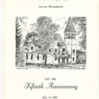 Program for 50th Anniversary of Conway United Church