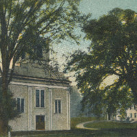 Postcard of the Baptist Church, Conway, Mass.