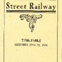 Conway Electric Street Railway Time-Table, Effective June 13, 1910