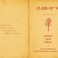 Conway High School Graduation Program, Class of 1898
