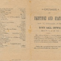 Catalogue of Paintings and Statuary for 1886 Exhibition