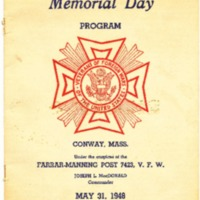 Veterans of Foreign Wars Memorial Day Program