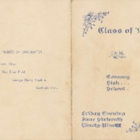 Program for Conway High School Commencement, 1899&lt;br /&gt;<br />