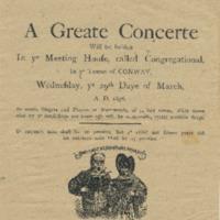 Concert Program, March 1876