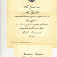 Invitation to Henry W. Billings  to Attend 1906 Governor's Reception