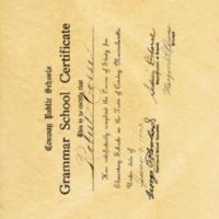 Grammar School Certificate for Robert Corse