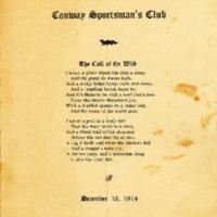 Conway Sportsman's Club Dinner Programs