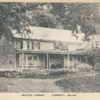 Postcard of Maple Lodge