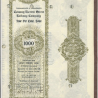 Conway Electric Street Railway Company Bond Coupon Books