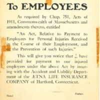 Notice To Employees of DeWolfe Shoe Company