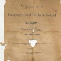 Catalogue of Congregational Sabbath School Library