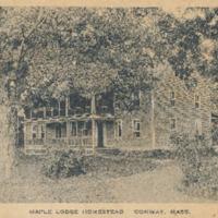 Postcard of Maple Lodge Homestead