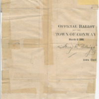 Official Ballot for the Town of Conway,  1891