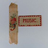 "Hand Stitched Bookmark ""Music"""