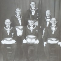 Group Portrait of Conway Masonic Officers