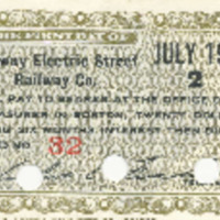 Conway Electric Street Railway Company Bond Coupons