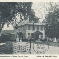 Postcard of Masonic Building and Electric Station