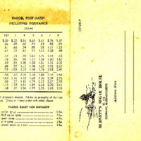 Burnett's Sugar House Price Card