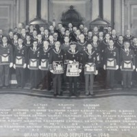 Group Portrait of Grand Masters and Deputies, Grand Lodge of Massachusetts