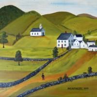 "Painting by Robert Merriam: ""Montague 1840"""