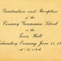 Invitation to Conway Grammar School Graduation, 1913