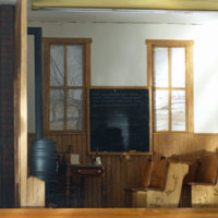 Miniature Model of Boyden Schoolhouse Interior