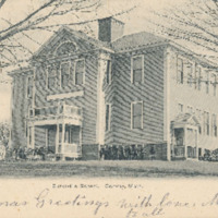 Postcard of Burkeville School, Conway, Mass.