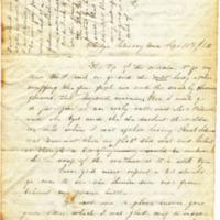 Paddy Libbie to Frederick E. Patrick, September, 18, 1852