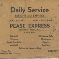 Pease Express Advertisement