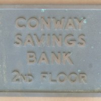Conway Savings Bank Plaque