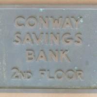 Conway Savings Bank Plaque